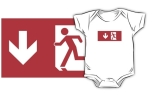 Running Man Fire Safety Exit Sign Emergency Evacuation Kids T-Shirt 37