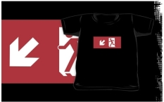 Running Man Fire Safety Exit Sign Emergency Evacuation Kids T-Shirt 38
