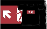 Running Man Fire Safety Exit Sign Emergency Evacuation Kids T-Shirt 39
