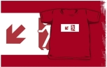 Running Man Fire Safety Exit Sign Emergency Evacuation Kids T-Shirt 4