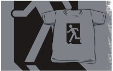 Running Man Fire Safety Exit Sign Emergency Evacuation Kids T-Shirt 41