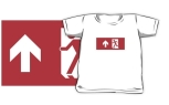 Running Man Fire Safety Exit Sign Emergency Evacuation Kids T-Shirt 42
