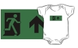Running Man Fire Safety Exit Sign Emergency Evacuation Kids T-Shirt 47