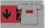 Running Man Fire Safety Exit Sign Emergency Evacuation Kids T-Shirt 50