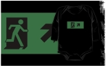 Running Man Fire Safety Exit Sign Emergency Evacuation Kids T-Shirt 52