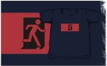 Running Man Fire Safety Exit Sign Emergency Evacuation Kids T-Shirt 56