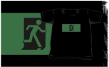 Running Man Fire Safety Exit Sign Emergency Evacuation Kids T-Shirt 57