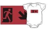Running Man Fire Safety Exit Sign Emergency Evacuation Kids T-Shirt 60
