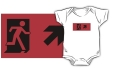 Running Man Fire Safety Exit Sign Emergency Evacuation Kids T-Shirt 61