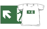 Running Man Fire Safety Exit Sign Emergency Evacuation Kids T-Shirt 63