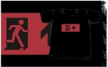 Running Man Fire Safety Exit Sign Emergency Evacuation Kids T-Shirt 64
