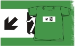 Running Man Fire Safety Exit Sign Emergency Evacuation Kids T-Shirt 67