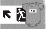 Running Man Fire Safety Exit Sign Emergency Evacuation Kids T-Shirt 68
