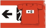 Running Man Fire Safety Exit Sign Emergency Evacuation Kids T-Shirt 69
