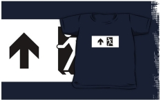 Running Man Fire Safety Exit Sign Emergency Evacuation Kids T-Shirt 72