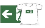 Running Man Fire Safety Exit Sign Emergency Evacuation Kids T-Shirt 74