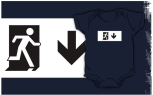 Running Man Fire Safety Exit Sign Emergency Evacuation Kids T-Shirt 75
