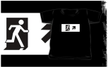 Running Man Fire Safety Exit Sign Emergency Evacuation Kids T-Shirt 77