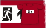 Running Man Fire Safety Exit Sign Emergency Evacuation Kids T-Shirt 79