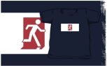 Running Man Fire Safety Exit Sign Emergency Evacuation Kids T-Shirt 8
