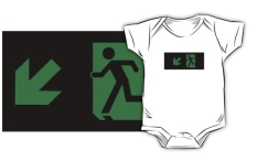 Running Man Fire Safety Exit Sign Emergency Evacuation Kids T-Shirt 82