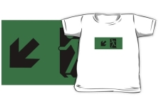Running Man Fire Safety Exit Sign Emergency Evacuation Kids T-Shirt 83