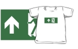 Running Man Fire Safety Exit Sign Emergency Evacuation Kids T-Shirt 85