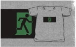 Running Man Fire Safety Exit Sign Emergency Evacuation Kids T-Shirt 89