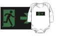 Running Man Fire Safety Exit Sign Emergency Evacuation Kids T-Shirt 93