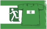 Running Man Fire Safety Exit Sign Emergency Evacuation Kids T-Shirt 95