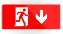Running Man Fire Safety Exit Sign Emergency Evacuation Printed Metal 10