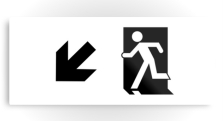Running Man Fire Safety Exit Sign Emergency Evacuation Printed Metal 100