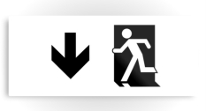 Running Man Fire Safety Exit Sign Emergency Evacuation Printed Metal 101