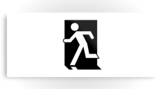 Running Man Fire Safety Exit Sign Emergency Evacuation Printed Metal 102