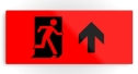 Running Man Fire Safety Exit Sign Emergency Evacuation Printed Metal 103