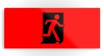 Running Man Fire Safety Exit Sign Emergency Evacuation Printed Metal 108