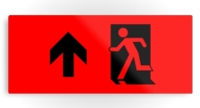Running Man Fire Safety Exit Sign Emergency Evacuation Printed Metal 109
