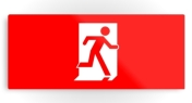 Running Man Fire Safety Exit Sign Emergency Evacuation Printed Metal 11