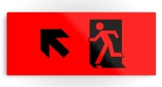 Running Man Fire Safety Exit Sign Emergency Evacuation Printed Metal 111