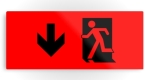Running Man Fire Safety Exit Sign Emergency Evacuation Printed Metal 113