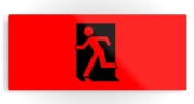 Running Man Fire Safety Exit Sign Emergency Evacuation Printed Metal 114