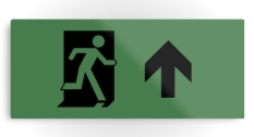 Running Man Fire Safety Exit Sign Emergency Evacuation Printed Metal 115