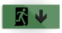 Running Man Fire Safety Exit Sign Emergency Evacuation Printed Metal 119