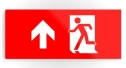 Running Man Fire Safety Exit Sign Emergency Evacuation Printed Metal 12
