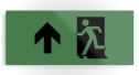 Running Man Fire Safety Exit Sign Emergency Evacuation Printed Metal 120