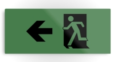 Running Man Fire Safety Exit Sign Emergency Evacuation Printed Metal 121