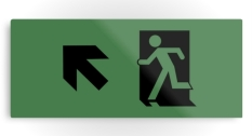 Running Man Fire Safety Exit Sign Emergency Evacuation Printed Metal 122