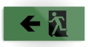 Running Man Fire Safety Exit Sign Emergency Evacuation Printed Metal 124