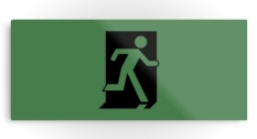 Running Man Fire Safety Exit Sign Emergency Evacuation Printed Metal 125