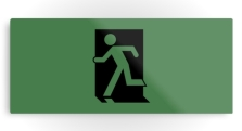 Running Man Fire Safety Exit Sign Emergency Evacuation Printed Metal 126